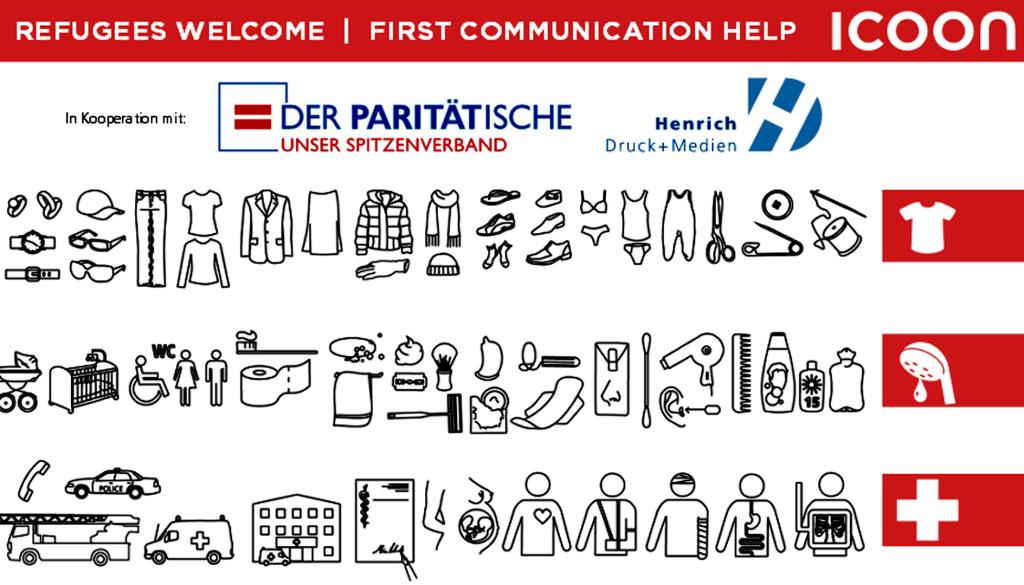 Icons Flüchtlingshilfe Verständigungshilfe für Flüchtlinge