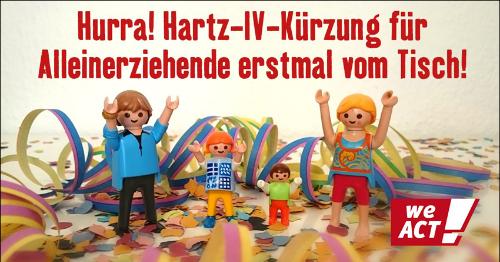 Hartz IV Kürzung für Alleinerziehende erstmal vom Tisch